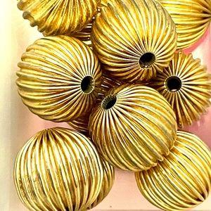 Lot of 12- 18mm Brass Beads